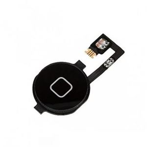 Picture of Replacement Home Button Key with Home Menu Flex Cable for iPhone 4 - Black
