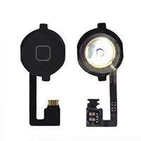 Picture of Replacement Home Button Key with Home Menu Flex Cable for iPhone 4s - Black