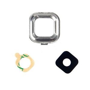 Picture of Galaxy S6 Active G890A Glass Camera Lens Cover + Frame Holder - Silver