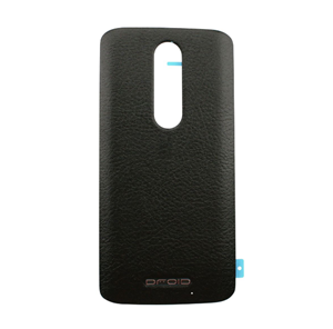 Picture of Motorola Droid Turbo 2 Back Battery Cover - Black (Leather)