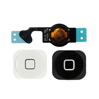 Picture of Replacement  Home Button Key Flex Cable Ribbon for iPhone 5 - White