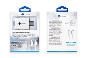 Picture of UPLUS Dual Charging Home Adapter With C to C Combo